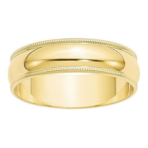 Womens 10K Gold Wedding Band