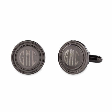 jcpenney.com | Round Polished Cuff Links w/ Recessed Border