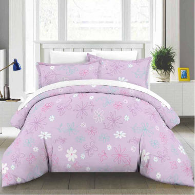 jcpenney.com | Lullaby Bedding Butterfly Floral Lightweight Comforter Set