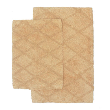 jcpenney.com | Homewear Criss Cross 2-pc. Bath Rug Set