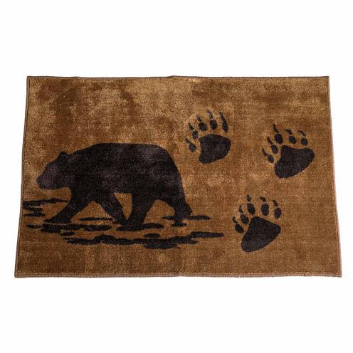 Hiend Accents Rustic Bear Bath Rug