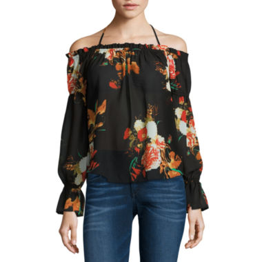 jcpenney.com | i jeans by Buffalo Tie Front Off Shoulder Top
