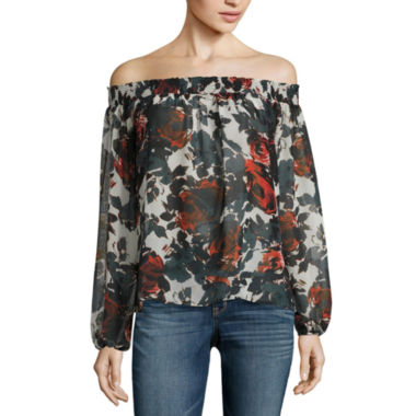 jcpenney.com | i jeans by Buffalo Off Shoulder Smocked Top
