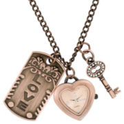 Decree® 3-Charm Pendant Watch