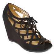 MIA girl  Quincy Lace-Up Wedges