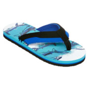 Arizona Boys Shark Flip Flops - Little Kids/Big Kids