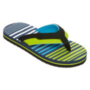 Arizona Boys Striped Flip Flops - Little Kids/Big Kids