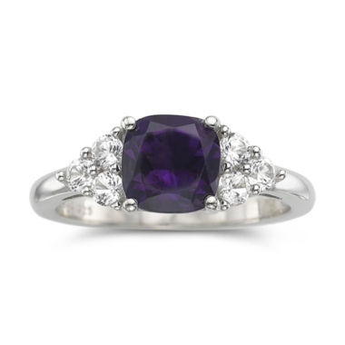 jcpenney.com | Genuine Amethyst & Lab-Created White Sapphire Sterling Silver Cocktail Ring