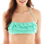 Arizona Crochet Ruffled Bandeau Bra Swim Top