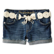 Joe Fresh™ Denim Shorts w/ Crochet Belt - Girls 4-14