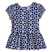 Total Girl® Ruffled Print Top - Girls 7-16 and Plus