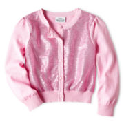 Little Maven™ by Tori Spelling Sequin Cardigan - Girls 12m-5y