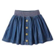 Arizona Denim Button-Front Skirt - Girls 6-16 & Plus