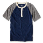 Arizona Raglan-Sleeve Henley Tee - Boys 6-18