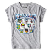 World Soccer Gray Graphic Tee - Girls 6-16