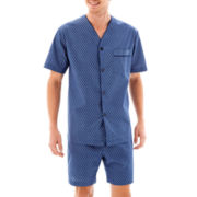Stafford Premium Chambray Pajama Set–Big & Tall