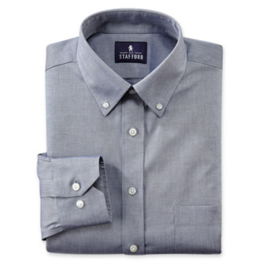 jcpenney.com | Stafford® Executive Non-Iron Cotton Pinpoint Oxford–Big & Tall