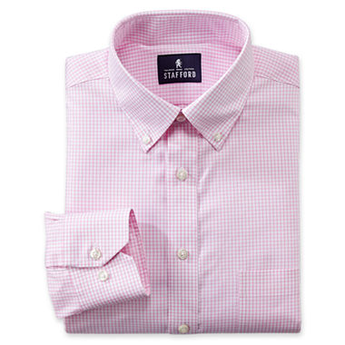 Stafford executive non iron cotton for Stafford big and tall shirts