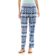 Self Esteem® Smocked-Waist Harem Pants