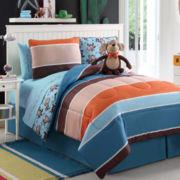 Zoomates Monkey Justin Reversible Comforter Set