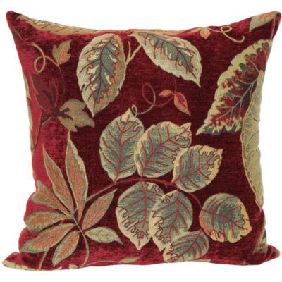 Jacquard 18 Quot Floral Decorative Pillow Color Red Jcpenney