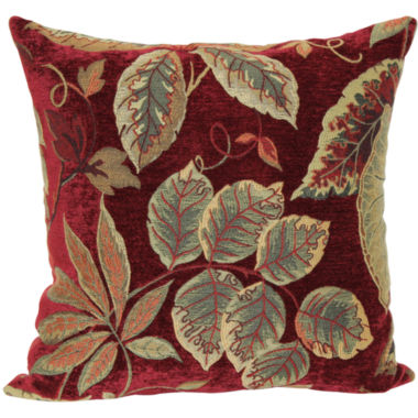 "jcpenney.com | Jacquard 18"" Floral Decorative Pillow"