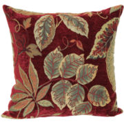 "Jacquard 18"" Floral Decorative Pillow"