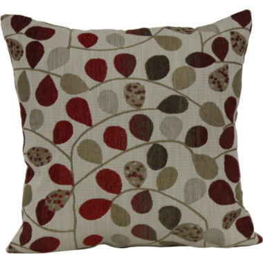 "jcpenney.com | 18"" Square Jacquard Vine Decorative Pillow"