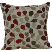 "18"" Square Jacquard Vine Decorative Pillow"