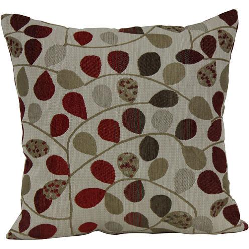 """18"""" Square Jacquard Vine Decorative Pillow"""