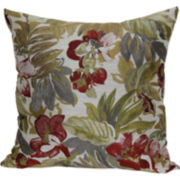 "Jacquard 18"" Tropical Decorative Pillow"