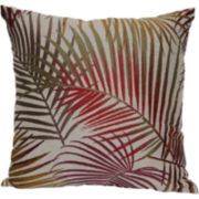 "Jacquard 18"" Palm Leaf Decorative Pillow"