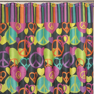 Peace & Love Shower Curtain