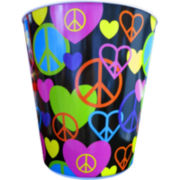 Peace & Love Wastebasket