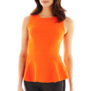 Bisou Bisou® Textured Peplum Tank Top