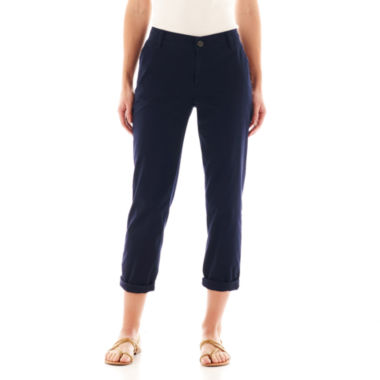 jcpenney.com | Liz Claiborne® Chino Cropped Pants - Tall