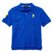 U.S. Polo Assn.® Short-Sleeve Solid Piqué Polo - Boys 8-18