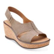 Clarks® Rosamund Dune Womens Suede Slingback Sandals