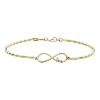 jcpenney.com | 10K Yellow Gold Infinity and Love Bracelet