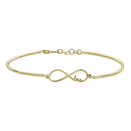 10K Yellow Gold Infinity and Love Bracelet