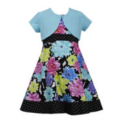 Bonnie Jean® Floral Dress with Cardigan— Girls 7-16