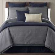 Studio™ Venue 4-pc. Jacquard Check Comforter Set + BONUS Coverlet