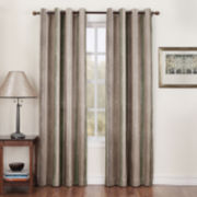Sun Zero™ Asher Stripe Grommet-Top Room-Darkening Curtain Panel