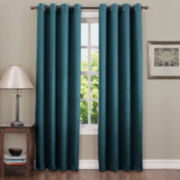 Sun Zero™ Emory Crushed Room-Darkening Grommet-Top Curtain Panel