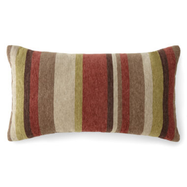 jcpenney.com | JCPenney Home™ Chenille Stripe Oblong Decorative Pillow
