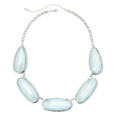 jcpenney.com | Mixit® Blue Faceted Collar Necklace