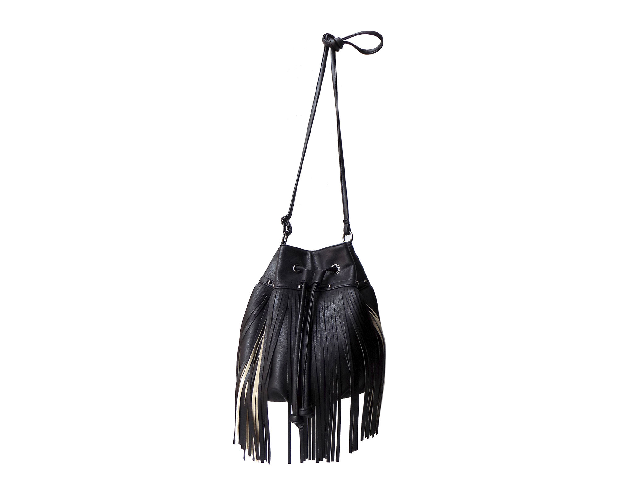 Olivia Miller Zulay Long Fringe Mini Bucket Bag