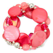 Mixit™ Pink Shell Stretch Bracelet