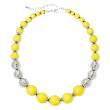 jcpenney.com | Mixit™ Yellow Bead Silver-Tone Necklace