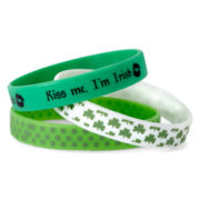 Mixit™ St. Patrick's Day 3-pc. Rubber Bracelet Set